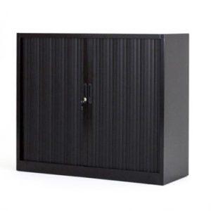 Armoire basse métallique noir