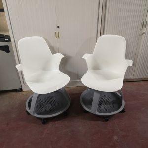 Chaise à roulettes Node Steelcase