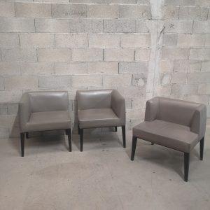 Ensemble de fauteuil modulable en cuir
